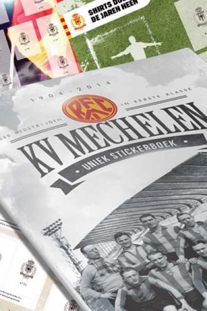 KV Mechelen-stickers ruilen op één van de ruilpunten