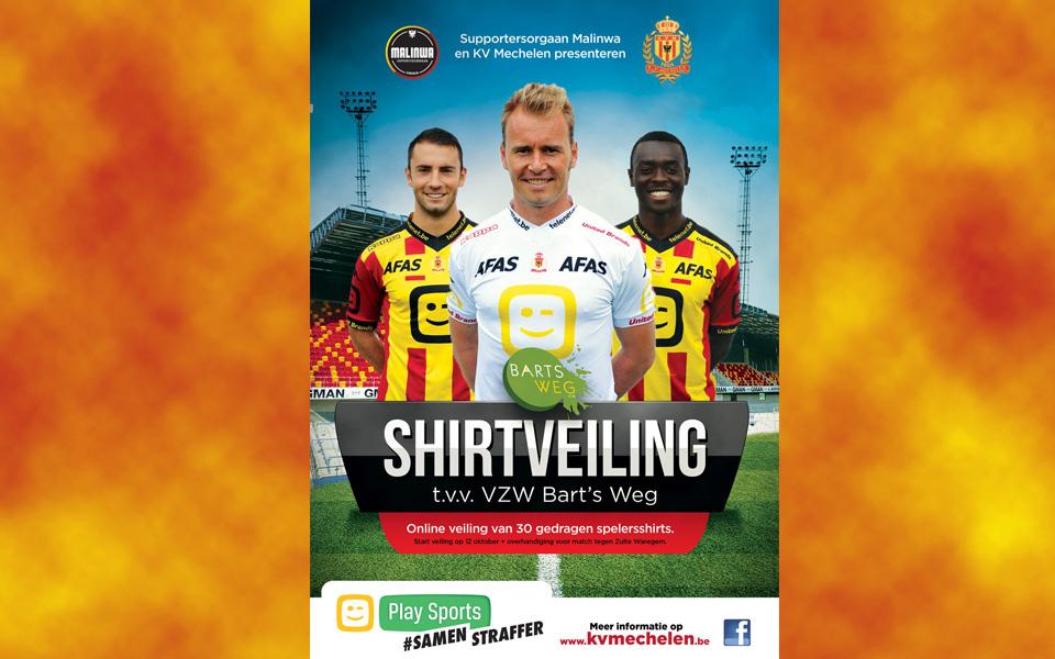 Online veiling (match worn) KVM-shirts